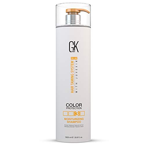 Global Keratin GKHAIR Moisturizing Shampoo for Color Treated Dry Damage Curly Frizzy Thinning Hair | Organic Paraben Gluten Sulfate Free All Hair Types for Men and Women 33.8fl.oz