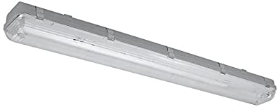 2 Lamp LED Vapor Proof Fixture 36W (100W Eq), 4700 Lm (130LM/w), 5000K (Daylight), UL & DLC, Frosted Cover, Waterproof, IP65, 120-277v, Garage lighting, Car Wash, Warehouse, Walk in Freezer