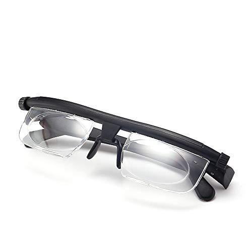 GLASSES YGRQ Justierbare Lesebrille PC-materielle Schwarze transparente Linse halber Rahmen-Computerspiellesebrille, die Anti-Augenermüdungsmänner / -Frauen liest