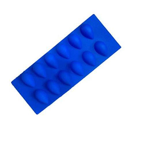Eishockeyform Tropfenform Silikoneisform 12 Gleichmäßige Tropfen Wassersilikon-Eiswürfelform Wassertropfen Eismaschine Küchengeräte (Farbe: 1) Excellent