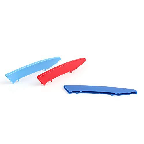 Topteng M Color Nieren Kühlergrillabdeckung Aufkleber Streifen Clip für B-M-W 3er-Serie E90 2004–2008