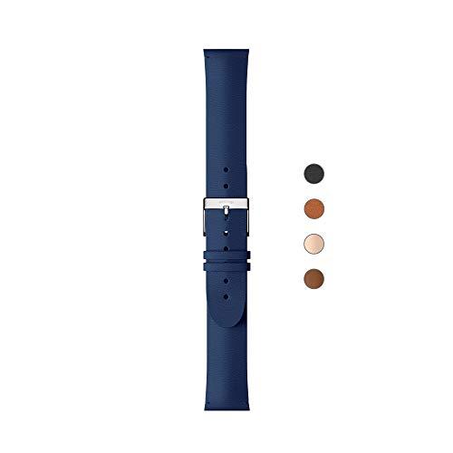 Withings 3700546704550 Correa, Unisex Adulto, Azul Marino & Hebilla Plateada, 36mm