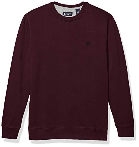 Chaps Men's Crewneck Fleece Sweatshirt, Rich Ruby, M