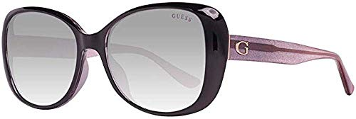 GUESS GU7554 Shiny Black/Gradient Smoke One Size