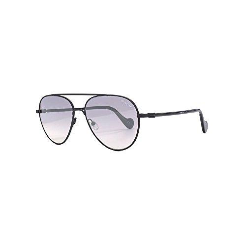 Moncler Unisex-Erwachsene ML0056 02C 57 Sonnenbrille, Schwarz (Nero Opaco/Fumo Specchiato)