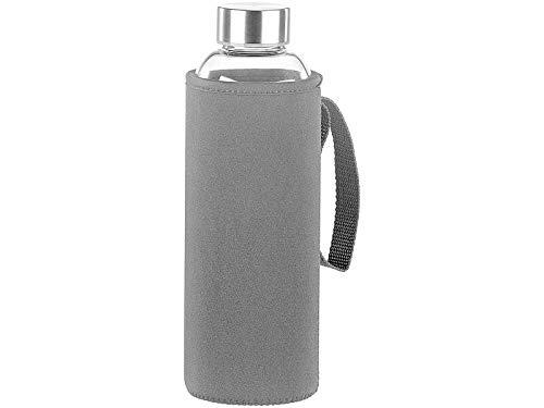 Rosenstein & Söhne Flasche: Trinkflasche aus Borosilikat-Glas mit Neopren-Hülle, 750 ml, BPA-frei (Trink-Flasche)