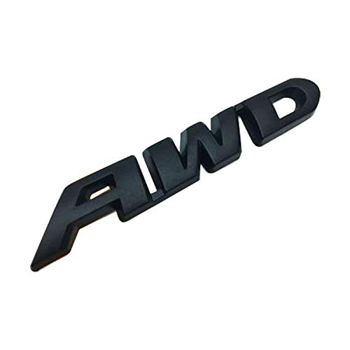 HUAYT AWD Emblem Sticker,1Pack Universal Zinc Alloy Badges Decal Suit for Ford/JEEP//Toyota/Honda/Nissan/Chevrolet All 4x4 Wheel Drive SUV (AWD-Black)