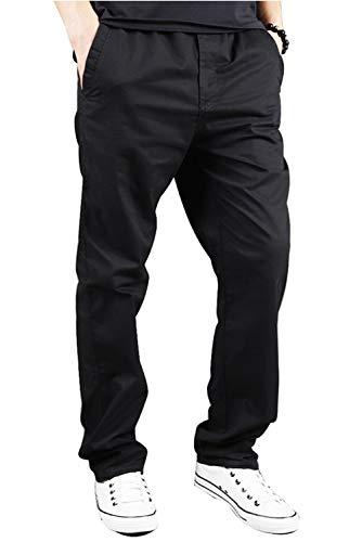 SANMIO Jogger Cargo Herren Chino Jeans Hose Herbst Winter Stretch Freitzeithose (Schwarz, XL)