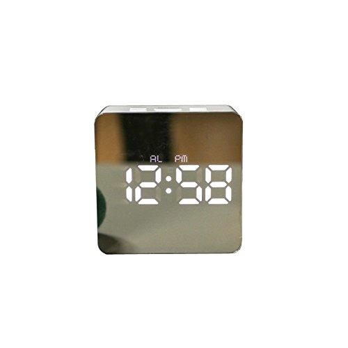 Como Alle leerlingen creatieve spiegel alarm LED export buitenhandel stille nachtlampje, minimalistisch en stijlvolle e-wekker