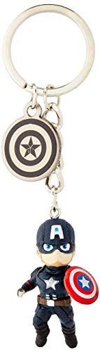 Grupo Erik Llavero Marvel: Los Vengadores - Llavero Capitán América / Llavero Egg Attack - Producto con licencia oficial
