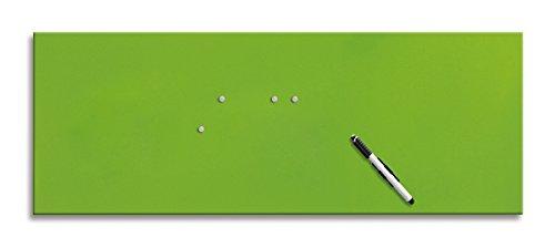 Eurographics MB-GREEN3080 Memo Board, Magnet- und Schreibtafel aus Glas, inklusive Stift und Magnete, grün