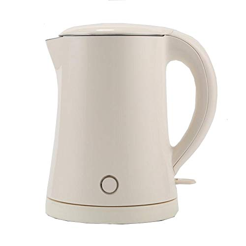 Electric Kettles LIANG, 1L Double Wall 100% Stainless Steel Tea Kettle, 1500W Fast Boil Cordless Water Kettle With Auto Shut-Off & Boil Dry Protection,White,