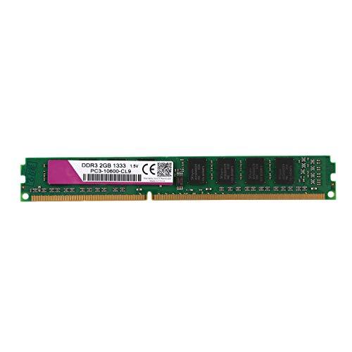 Shumo Memoria DDR3 RAM PC3 da 1,5 V PC Desktop 240 Pin per Intel Compatibile (2 GB, 1333 MHz, 10600U)