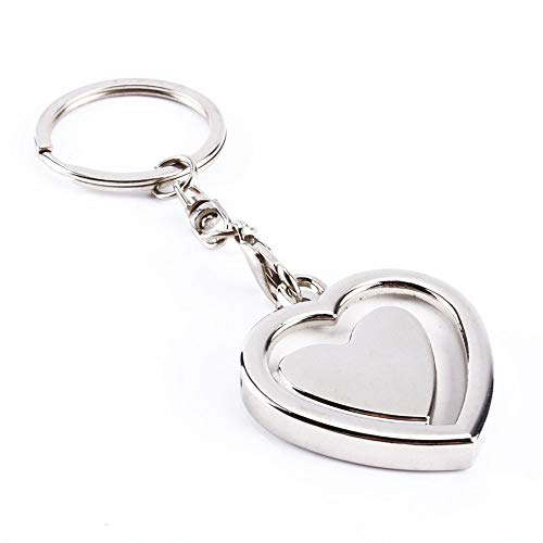 N-brand Schlüsselbundrahmen, Mini Creative Metalllegierung Schnalle Einfügen Foto Bilderrahmen Schlüsselring Schlüsselbund Auto Schlüsselanhänger Ring Schlüsselanhänger GIF