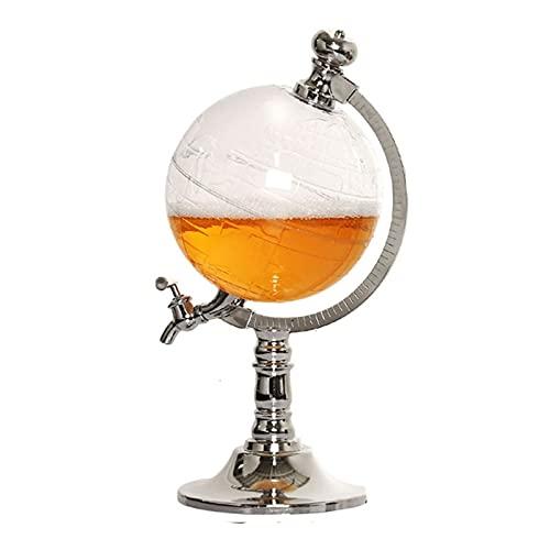 NAJING Máquina De Elaboración De Cerveza Globe Distribuidor De Vino Máquina De Cerveza Creativa Torre De Vino Bar En Casa Suministros Especiales para Barriles De Vino,1890ml