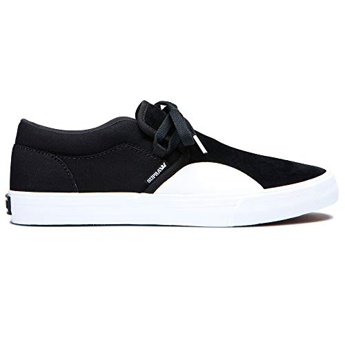Supra Vaider Haut Top Chaussures-Noir//Lt Gris//Noir