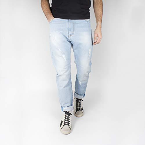 KLIXS Jeans Kevin Uomo Light Blue Denim Cropped con straooetti 1170MA 42