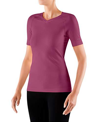 Falke Cool W S/S SH Camiseta para Senderismo, Mujer, Rosa, XL