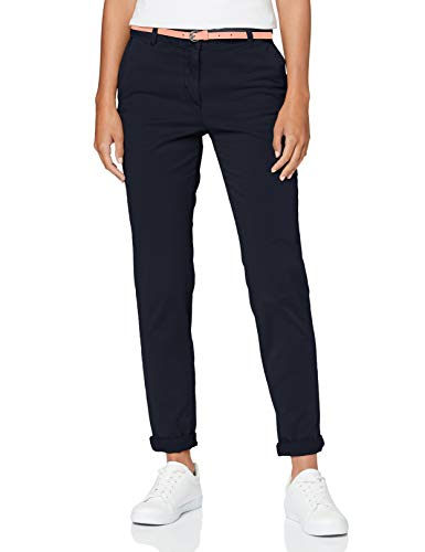 TOM TAILOR Damen Chino Slim Hose, 10668-Sky Captain Blue, 38W / 30L