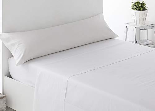 Energy Colors Textil - Excellent 105 - Juego SÁBANAS Completo 3 Piezas Verano Cama 105 x 190-200 cm (Blanco)