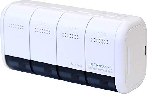 MEDIK歯ブラシ除菌器4本収納可小型壁掛け式ホワイトMDK-TS04WHITE