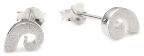 Vinani Ohrstecker Spirale oval gebürstet Sterling Silber 925 Ohrringe OSF