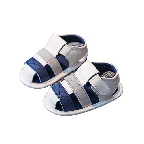 Qingxin Sandalias de bebé Zapatos para niños pequeños y niñas con suela de goma para niños y niñas