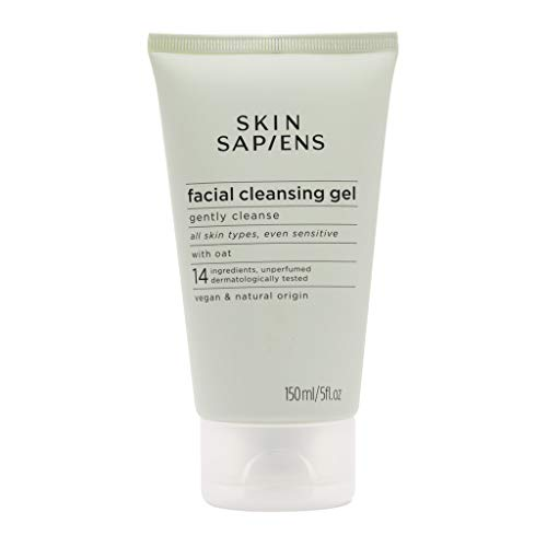 SKIN SAPIENS Gentle Facial Cleansing Gel with Oat, 97% Natural Ecocert...