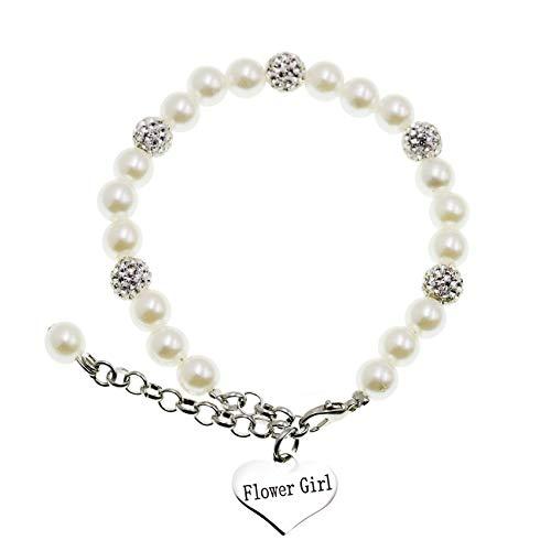 Flower Girl Bracelet Flowergirl Pearl Bracelet Flowergirl Gift Jewelry (Bracelet)