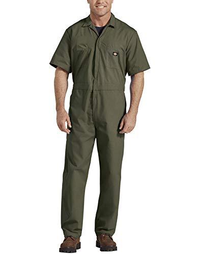 Dickies Herren Short-Sleeve Coverall Arbeitsanzug, moosgrün, Large Regulär