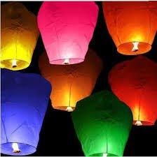 6 pièces. Sky Lantern – Lanterne volante carrée – Lanterne volante ballon pour mariage – Couleurs mixtes