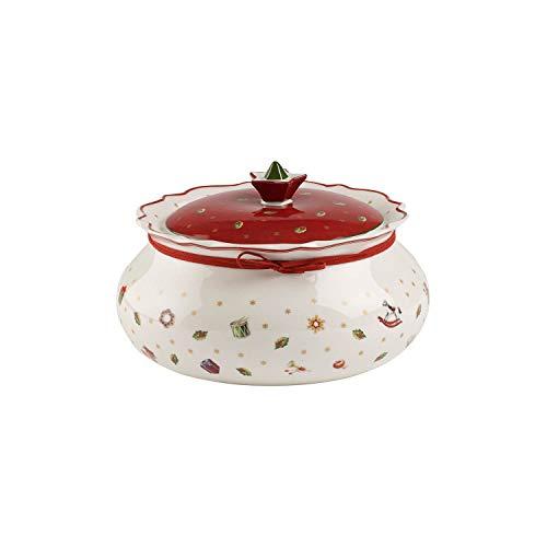 Villeroy und Boch Toy's Delight Mittelgroße Vorratsdose, Premium Porzellan, Weiß/Rot