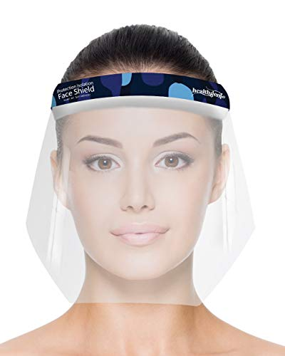 Healthgenie Face Shields (Pack of 10), Safety Face Shield, 350 Microns Unbreakable Shield for Men and Women