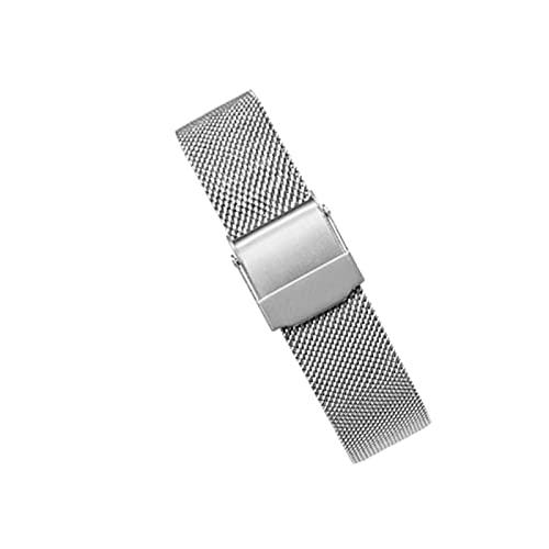 WSYGHP Reloj Correa de Acero Inoxidable Metal Reloje Relojase rápido Bandas - Correa de reemplazo con Herramientas de instalación, Negro-14mm Oro Rosa (Color : Silver, Size : 17mm)