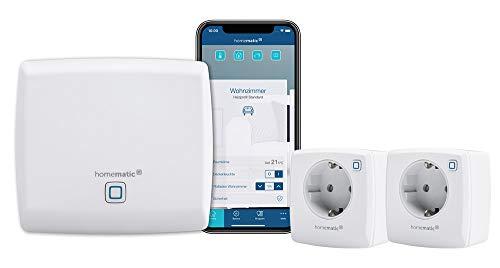Homematic IP Access Point - Smart Home Gateway mit kostenloser App und Sprachsteuerung über Amazon Alexa + 2x Schaltsteckdose–smarte Steckdose mit kostenloser App und Sprachsteuerung über Amazon Alexa