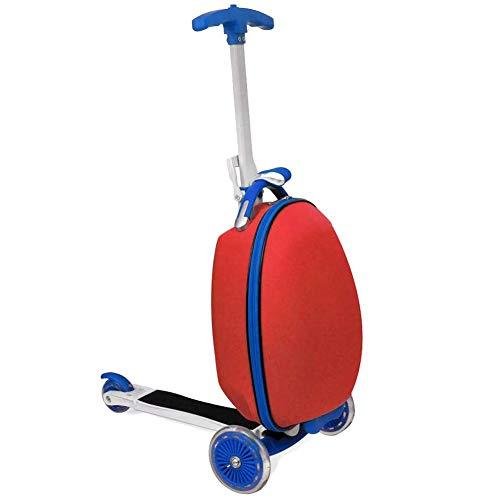 SOULONG Patinete de 3 ruedas con freno y maleta con ruedas para...