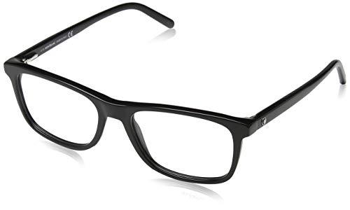 Montblanc Mont Blanc Brillengestelle Mb0672 001-55-18-145 Monturas de gafas, Negro (Schwarz), 55 Unisex Adulto