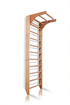 Dani LLC Wall Bars CM-01-220 87 in Wooden Swedish Ladder Set  Adjustable Pull Up Bars for Training and Physical Therapy - Used in Homes Gyms Clinic and Schools
