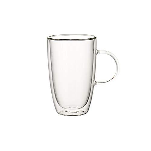 Villeroy und Boch Artesano Hot und Cold Beverages Tasse XL, 2er-Set, 450 ml, Borosilikatglas, Klar