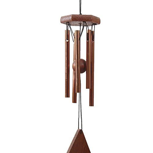 OSVINO Klangspiele Windspiele Aluminium mattiert klein Gesamtlänge 30,5cm/35,6cm für Garten draußen, Kupfer 30.5cm