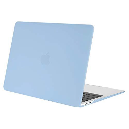 MOSISO Hülle Kompatibel mit MacBook Air 13 2020 2019 2018 Freisetzung A2179 A1932 Retina Display, Plastik Hartschale Case Cover Nur Kompatibel mit MacBook Air 13 Zoll mit Touch ID, Air Blau