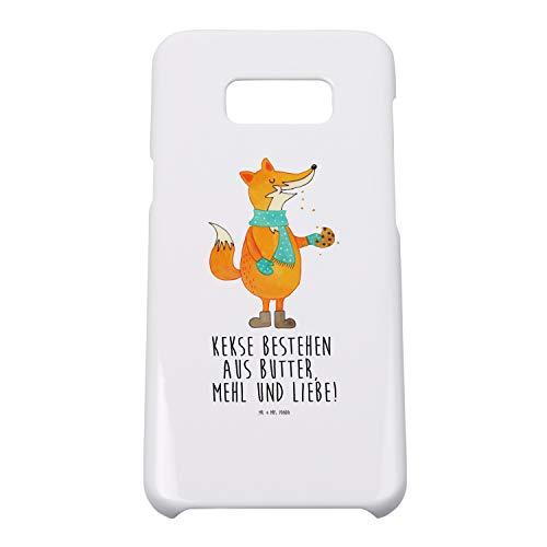 Mr. & Mrs. Panda Hülle, Handycover, Samsung Galaxy S8 Plus Handyhülle Fuchs Keks mit Spruch - Farbe Weiß