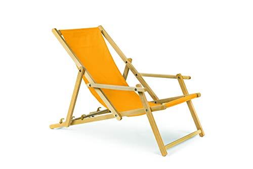 Holz Gartenliege Strandliege Liegestuhl Sonnenliege mit Armauflagen