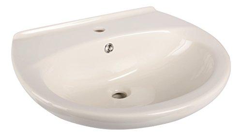 aquaSu® Waschtisch, 60 cm, Pergamon, Waschbecken, Waschtisch, Bad, Badezimmer, Gäste-WC, Mit Überlaufschutz, Keramik