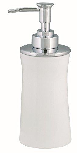 Spirella Seifenspender Malibu Flüssigseifen-Spender Porzellan 300ml Weiß
