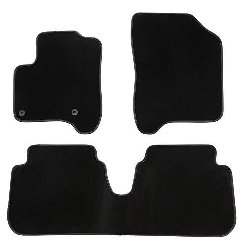 DBS Tapis de Voiture - sur Mesure pour C3 Picasso (2009-2016) - 3 pièces - Tapis de Sol antidérapant pour Automobile - Moquette Premium