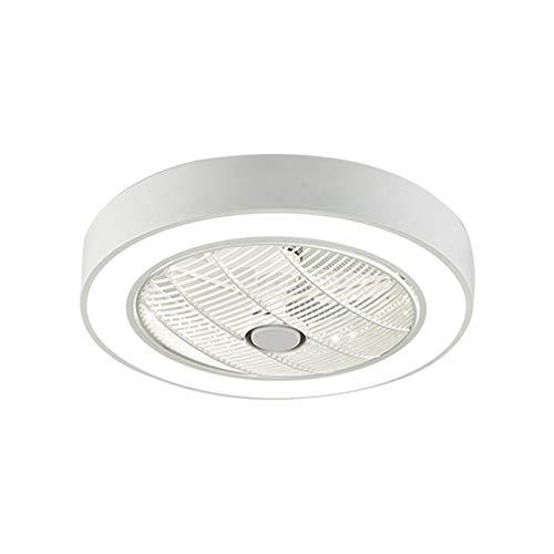 OUKANING Deckenventilator mit Beleuchtung, Fan Deckenventilator LED Licht, Einstellbare Windgeschwindigkeit, Dimmbar mit Fernbedienung für Schlafzimmer Wohnzimmer Esszimmer (Weiß)
