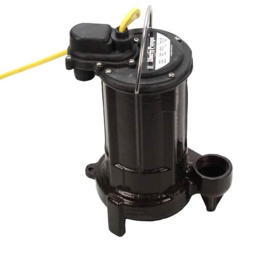 Liberty Pumps 1/2 HP Elevator Sump Pump System w/Mechanical Float Switch, OilTector & Alarm - 115v - 25 ft Cord