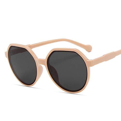 Gafas De Sol Mujeres Vintage Gato Ojo Gafas De Sol para Hombres Mujeres Viendera Irregular Gafas De Sol Moda Colorido Unisex Gafas-Pink
