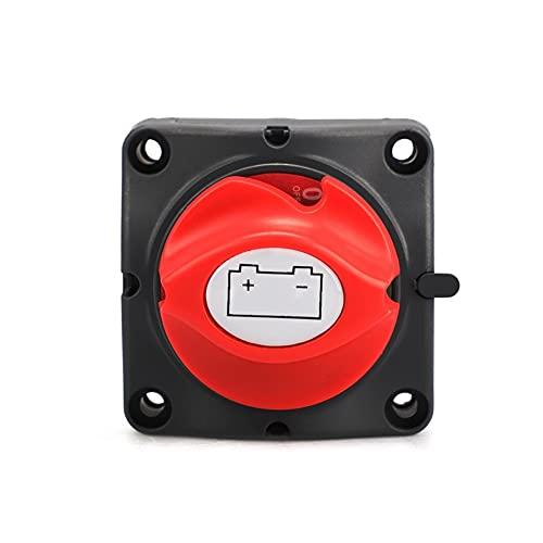 MITANG Star Firm Ajuste para automóviles Auto 12V-60V 100A-300A RV Selector de batería de Barco Marino Aislador Desconectar Interruptor Giratorio Corte YC101593 (Color : Red Knob)
